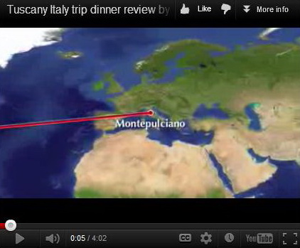 Tuscany Italy trip dinner review