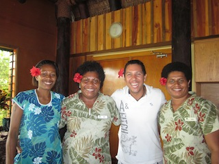 Men Wear Flowers in Fiji